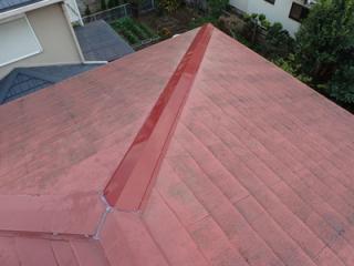習志野市香澄にて台風で飛散してしまった棟板金を交換工事で改善アフター