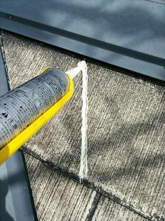 君津市 屋根の塗装工事 下処理005_R