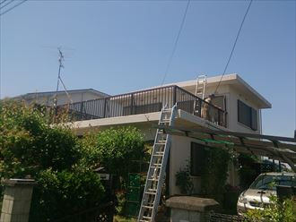 木更津市のY様邸の屋上・ベランダ防水の調査に伺いました