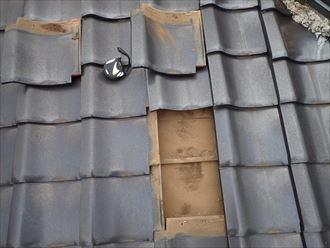 千葉市花見川区 落雷での瓦の被害009_R