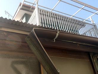 雨樋の破損 雨樋の折れ