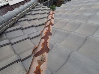市原市の屋根調査 粘土瓦 しっくい