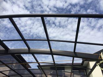 勝浦市 カーポート屋根の被災003_R