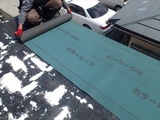 屋根のカバー工事 君津市
