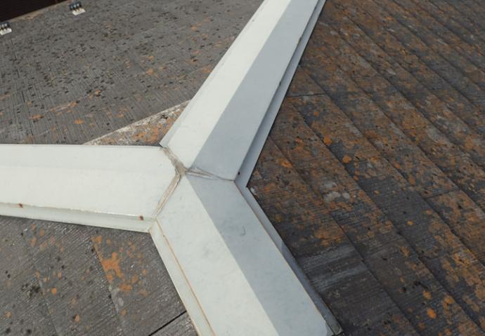 スレート屋根と棟板金点検