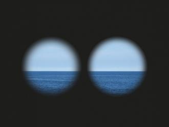 双眼鏡からの眺め