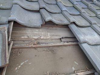 瓦の雨漏り 木更津市
