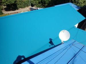 雨漏り 金属波板 屋根葺き替え工事 棟板金工事