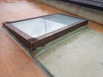 FRP防水でガラスマットを設置
