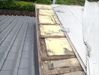 既存屋根撤去