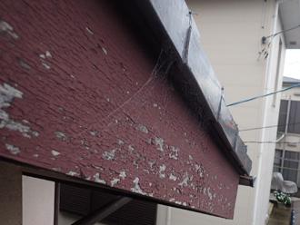 経年劣化した破風板