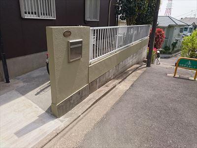 流山市|玄関アプローチのリフォーム(土間・左官・塗装)