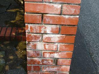 稲毛区で屋根カバーのお客様からレンガのエフロ洗浄のお問い合わせ