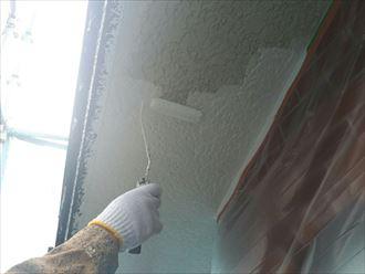 付帯部塗装工事で軒天塗装