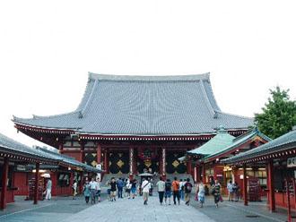 浅草寺 チタン瓦屋根