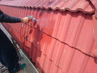 佐倉市 モニエル瓦の屋根塗装工事004_R