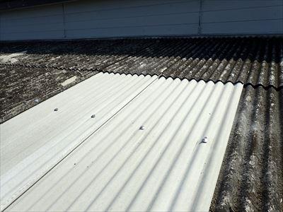 大網白里市|小波スレート屋根葺き替え工事で災害復旧