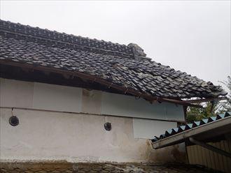 君津市で蔵の風害