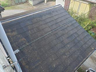 下屋根の棟板金が飛散