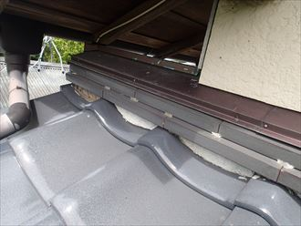 君津市 屋根の調査 和瓦2002_R 雨押え漆喰