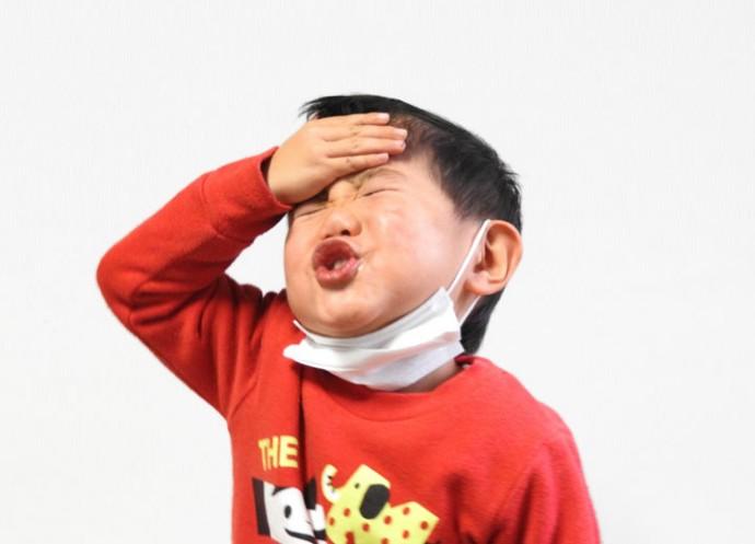 インフルエンザ気味の子供