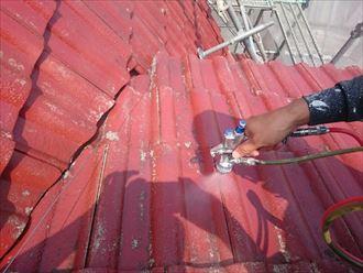 佐倉市 モニエル瓦の屋根塗装工事002_R