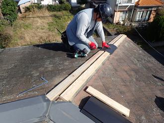 木材貫板設置