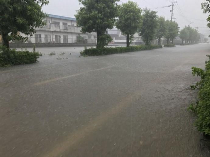 台風による冠水