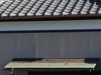 2色に変色した銅屋根