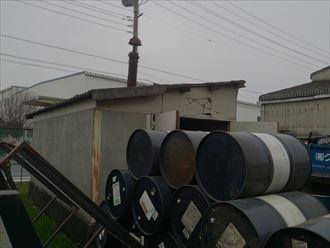 市原の危険物倉庫の屋根補修工事調査に伺いました。