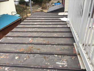 錆が発生している金属屋根