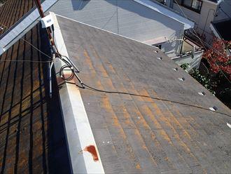 千葉市花見川区でコロニアル屋根の調査と屋根塗装