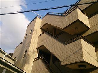 木更津市のマンションの屋上防水の調査に伺いました