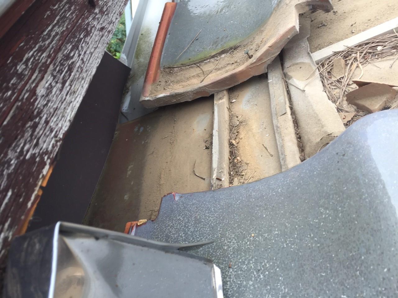成田市で築20年の増築した部分からの雨漏り
