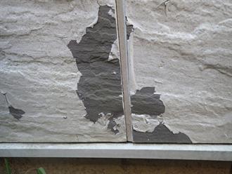 外壁表面の塗膜剥がれ