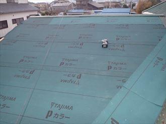 防水紙敷設