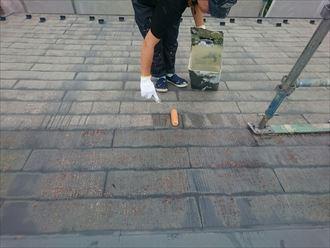 千葉市緑区 下塗り 屋根塗装 002_R