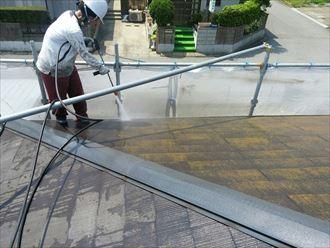 富津市 屋根塗装の下処理005_R