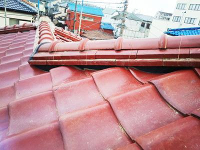 柏市中新宿にて築30年を超えるお住まいで、棟瓦の取り直しのメンテナンスアフター