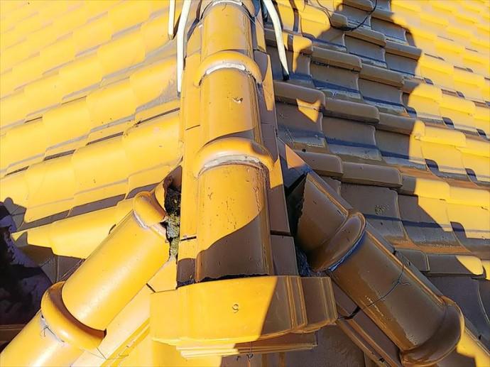君津市 雨漏りの原因箇所・漆喰の欠損