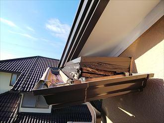 市原市 破風板の損傷