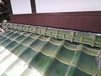 木更津市 壁きわ瓦の積み直し