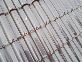 市原市 屋根瓦の損傷