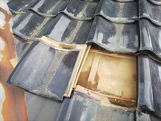富津市 屋根からの雨水の浸水
