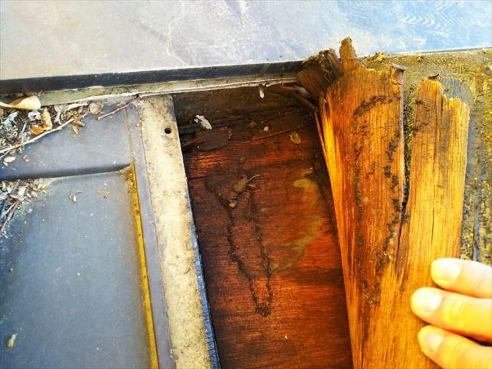 袖ケ浦市 床下地の腐食