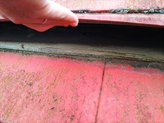富里市 貫板の劣化