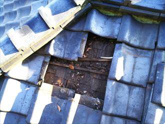 富津市 瓦桟の劣化