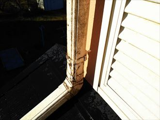 袖ケ浦市 竪樋の汚れ