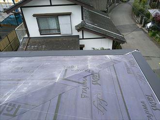 千葉市若葉区の屋根カバー工事スーパーガルテクト使用