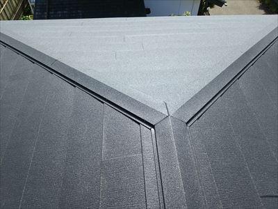 千葉市若葉区|棟板金飛散に伴い屋根カバー工法(スーパーガルテクト)で改善!